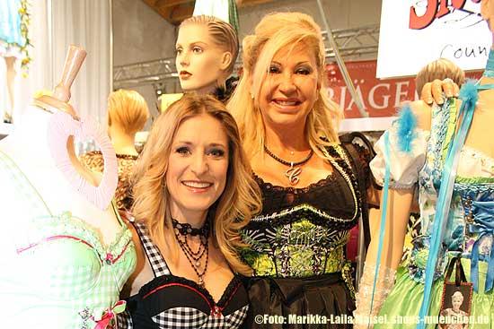Stefanie Hertel und Carmen Geiss bei der Tracht & Country Frühjahr 2013 in Salzburg (ªFoto: Marikka-Laila Maisel, shops-muenchen.de)