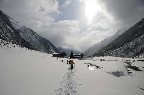 Wintererlebnis im Krimmler Achental ©Nationalpark Hohe Tauern