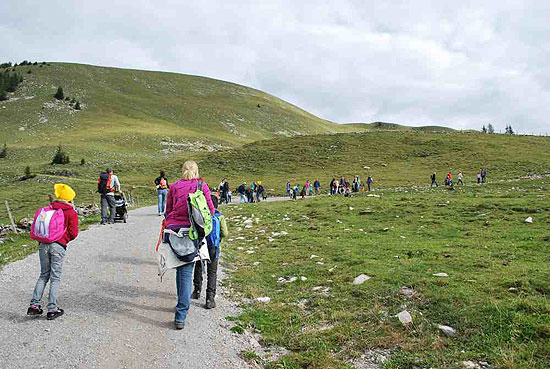 Familienwandertag Moosangerlalm auf dem Trattberg Foto: bambiniclub.at